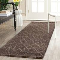 Safavieh Tunisia Dark Brown Area Rug Runner - 2'6 x 12'