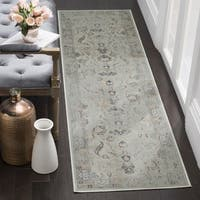 Safavieh Vintage Oriental Light Blue Distressed Silky Viscose Runner (2' x 8')