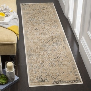 Safavieh Vintage Oriental Cream Distressed Silky Viscose Runner (2' x 8')