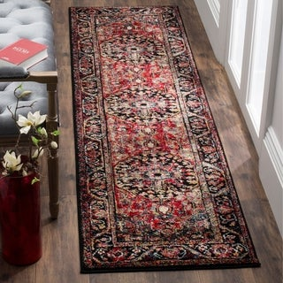 Safavieh Vintage Hamadan Traditional Red/ Multi Distressed Area Rug Runner (2'2 x 12')