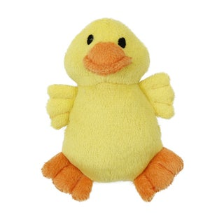 Anima Yellow Ducky Squeaky Soft Plush Toy for Small Dogs