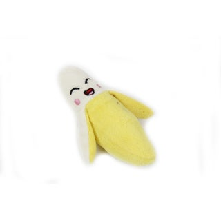 Anima Yellow Banana Squeaky Soft Plush Toy for Small Dogs