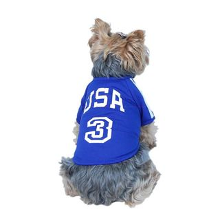 Anima Blue/ White USA Sports Jersey Dog and Pet Shirt