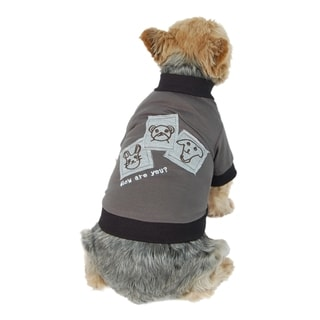 Anima Grey Cartoon Patch Dog and Pet T-Shirt