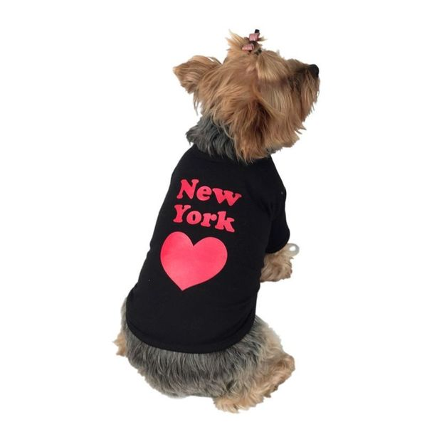 Anima Black New York Dog and Pet T-Shirt