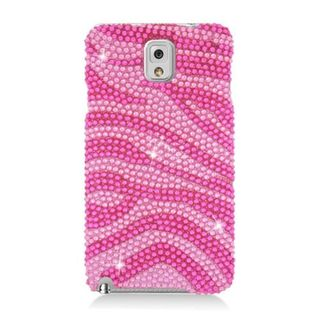 Insten Hot Pink/ Pink Zebra Full CS Diamond Protector Case Cover for Samsung Galaxy Note 3