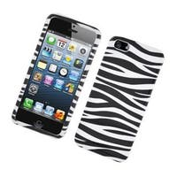 Insten Black/ White Zebra Glossy 2D Image Protector Case Cover for Apple iPhone 5/ 5c/ 5s/ SE