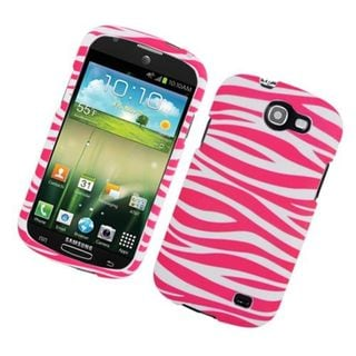 Insten Pink/ White Zebra Rubberized Image Protector Case Cover for Samsung Galaxy Express/ I437