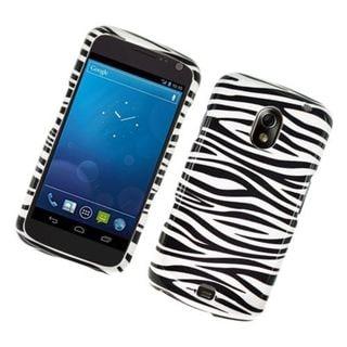 Insten Black/ White Zebra Glossy 2D Image Protector Case Cover for Samsung Galaxy Nexus Prime I515