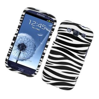 Insten Black/ White Zebra Glossy 2D Image Protector Case Cover for Samsung Galaxy S3