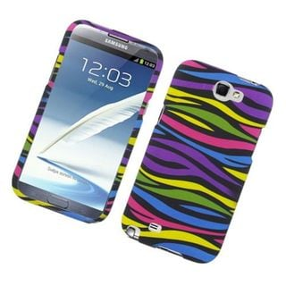 Insten Rainbow Zebra Rubberized Image Protector Case Cover for Samsung Galaxy Note 2