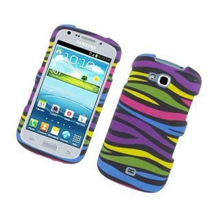 Insten Rainbow Zebra Rubberized Image Protector Case Cover for Samsung Galaxy Axiom/ Admire 2/ R830