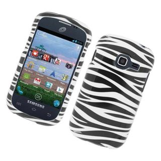 Insten Black/ White Zebra Glossy 2D Image Protector Case Cover for Samsung Galaxy Centura S738C/ DisCover S730G