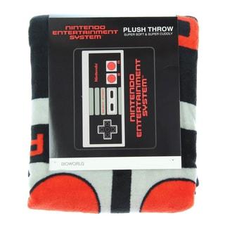 Bioworld Nintendo Retro NES Controller Throw Blanket