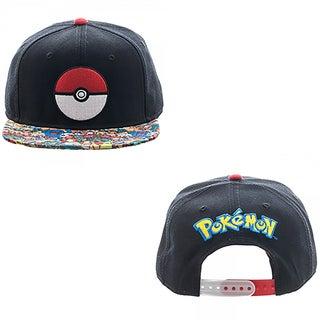 Bioworld Pokemon Pokeball Character All Over Print Sublimated Bill Snapback Hat