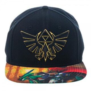 Bioworld The Legend of Zelda Ocarina of Time Sublimated Bill Snapback Hat