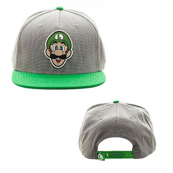 Shop Nintendo Super Mario Bros - Luigi Rubber Logo Snapback Hat - Free  Shipping On Orders Over  45 - Overstock - 14197161 71691e5801aa