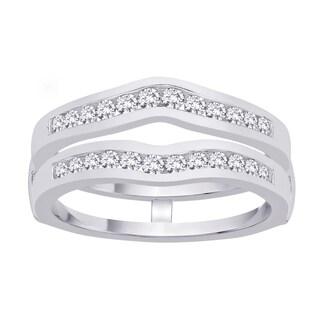 14k White Gold 3/4ct TDW Diamond Enhancer Ring (G-H, I2)