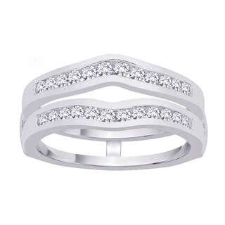 14k White Gold 3/4ct TDW Diamond Enhancer Ring