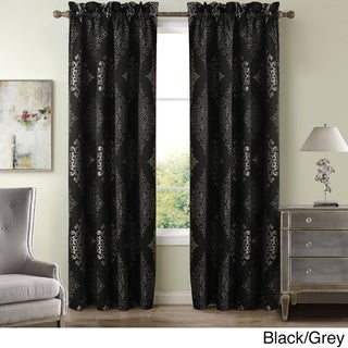 Toulon Polyester 84-inch Damask Window Curtain Panel