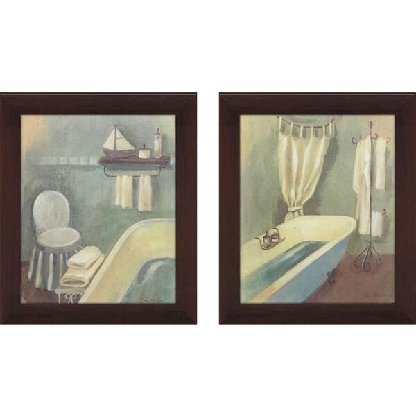 Shop Bathroom 1 Framed & Canvassed Wall Art (Set Of 2