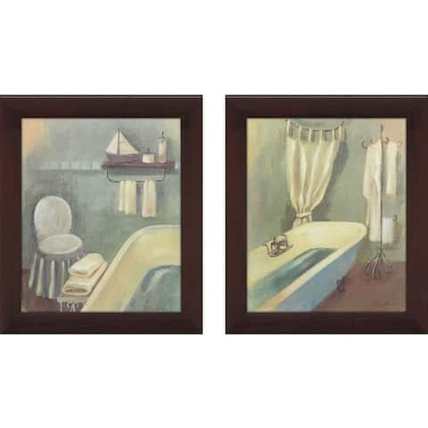 Bathroom 1 Framed & Canvassed Wall Art (Set of 2)