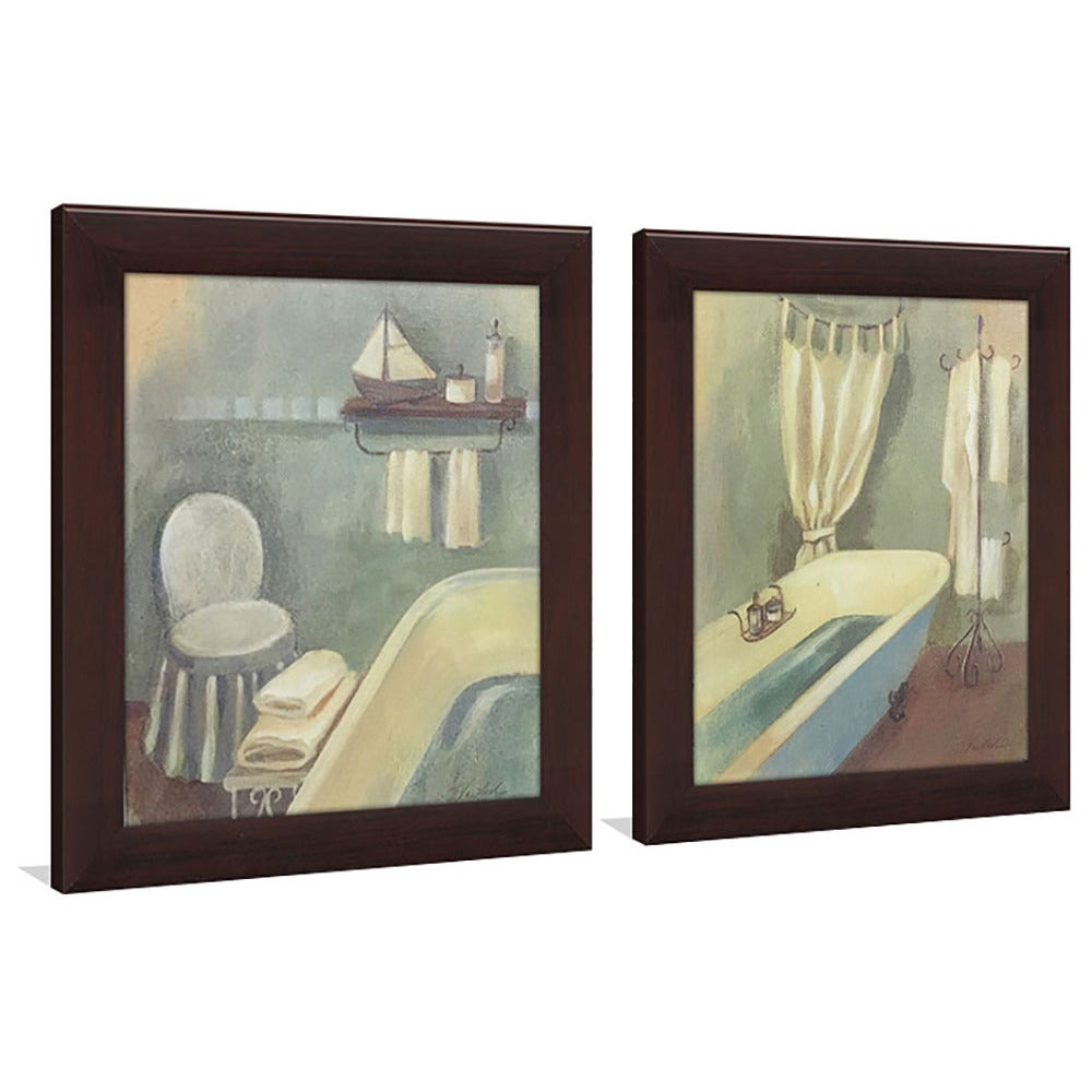 Bathroom 1 Framed Canvassed Wall Art Set Of 2 Overstock 14197459