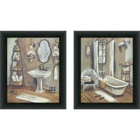 "Maison Rouge ""Bathroom 3"" Framed & Canvassed Wall Art (Set of 2)"