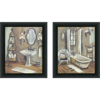 "Maison Rouge Holmes ""Bathroom 3"" Framed & Canvassed Wall Art (Set of 2)"