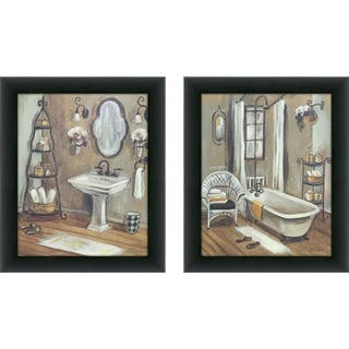 "Copper Grove ""Bathroom 3"" Framed & Canvassed Wall Art (Set of 2)"