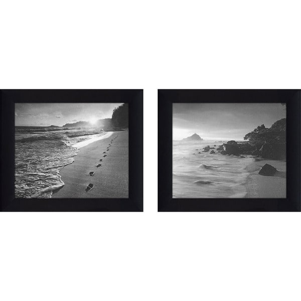 Black white 5 framed canvassed wall art set of 2