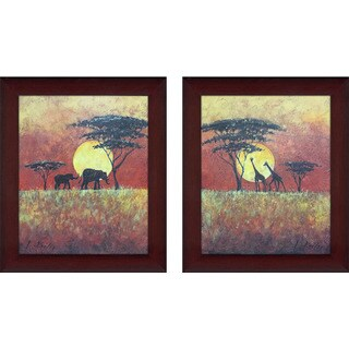 Safari 1 Framed & Canvassed Wall Art (Set of 2)