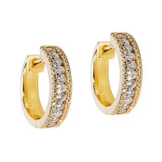14k Gold 1/2ct TDW Diamond Mini Hoop Earrings (G-H, SI1-SI2)