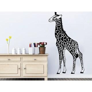 Giraffe Africa Safary Animals Living Room Decor Baby Kids Wall Decor Sticker Decal size 48x65 Color
