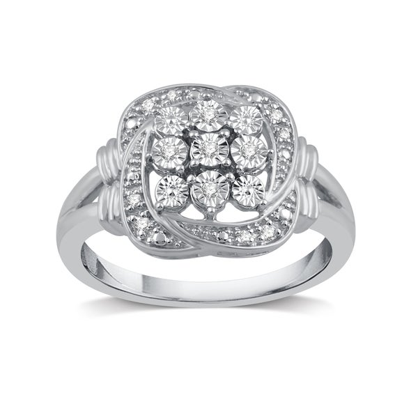 8c8f1945a0f Shop 1/20 ct. TDW Diamond Accent Fashion Ring in Sterling Silver ...