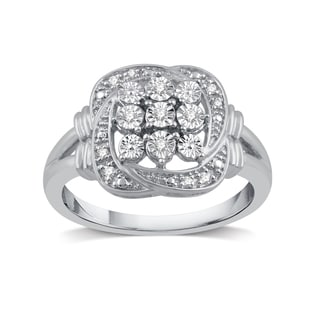 1/20 ct. TDW Diamond Accent Fashion Ring in Sterling Silver (I-J, I2)