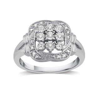 1/20 ct. TDW Diamond Accent Fashion Ring in Sterling Silver - White I-J (More options available)