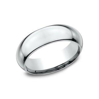 Men's 7 mm High Domed Profile Comfort Fit Wedding Band