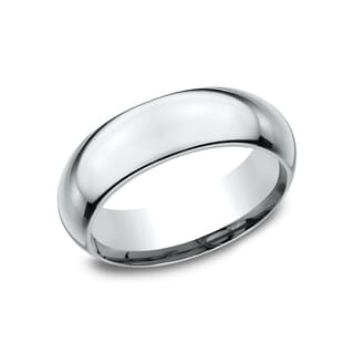 Ladies 7mm Platinum High Domed Comfort Fit Traditional Wedding Band