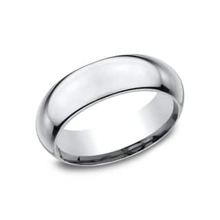 Ladies 7mm Platinum High Domed Comfort-Fit Traditional Wedding Band|https://ak1.ostkcdn.com/images/products/14197592/P20793200.jpg?impolicy=medium
