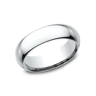 Ladies 6 mm Platinum High Domed Comfort-Fit Traditional Wedding Band|https://ak1.ostkcdn.com/images/products/14197614/P20793582.jpg?impolicy=medium