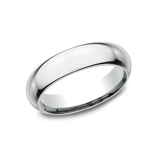 Ladies 5mm Platinum High Domed Comfort-Fit Traditional Wedding Band|https://ak1.ostkcdn.com/images/products/14197622/P20793584.jpg?_ostk_perf_=percv&impolicy=medium