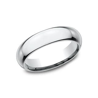 Ladies 5mm Platinum High Domed Comfort-Fit Traditional Wedding Band|https://ak1.ostkcdn.com/images/products/14197622/P20793584.jpg?impolicy=medium