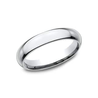 Ladies' Platinum 4mm High-domed Comfort-fit Traditional Wedding Band|https://ak1.ostkcdn.com/images/products/14198030/P20793607.jpg?impolicy=medium