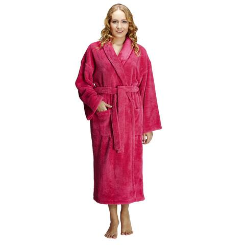 Women's Shawl Fleece Bathrobe