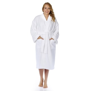 Women's Plush Fleece Kimono Bathrobe