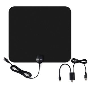 Ultra-thin Indoor Digital HDTV Antenna with Detachable Amplifier Signal Booster