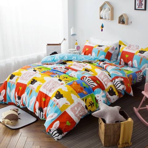 Bingo Forest 100% Cotton 3-piece Duvet Cover Set
