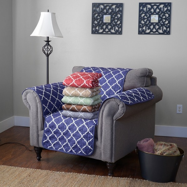 Journee Home Reversible Printed Chair Protector