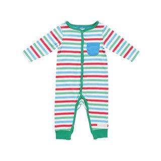 Rockin' Baby Multicolored Cotton Striped Romper
